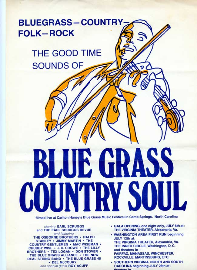 Original Poster for the Bluegrass Country Soul Concert