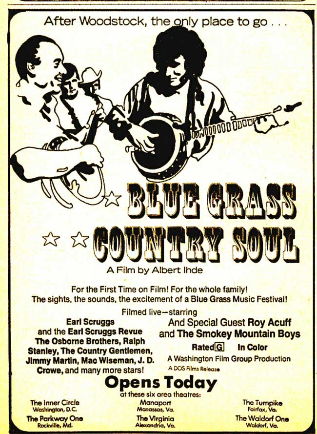 Print ad for Bluegrass Country Soul Concert