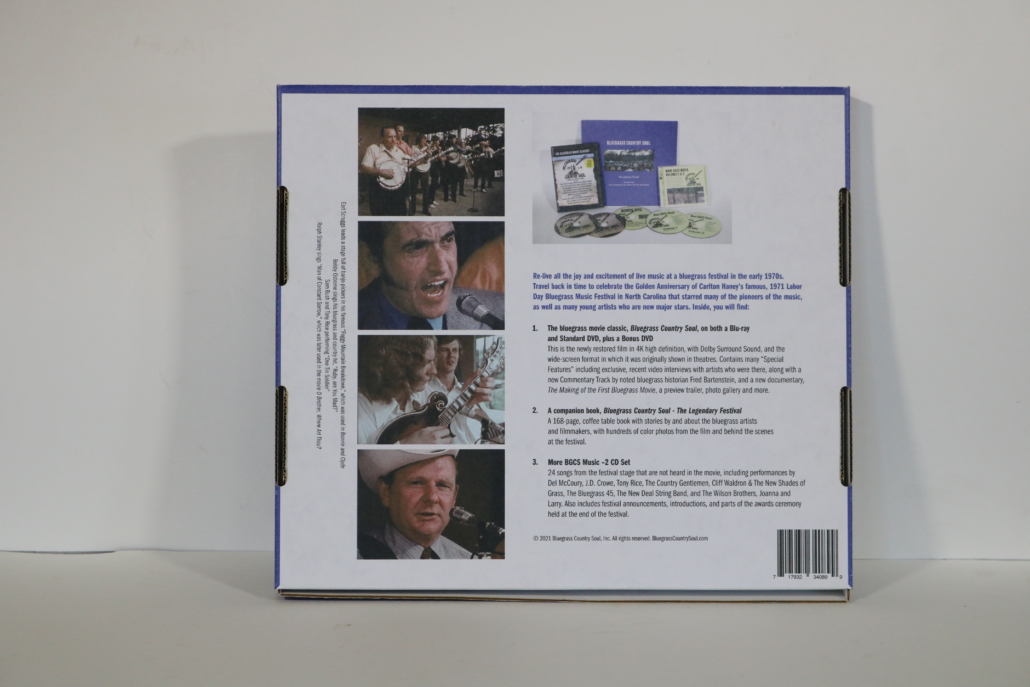 back cover of the gift box